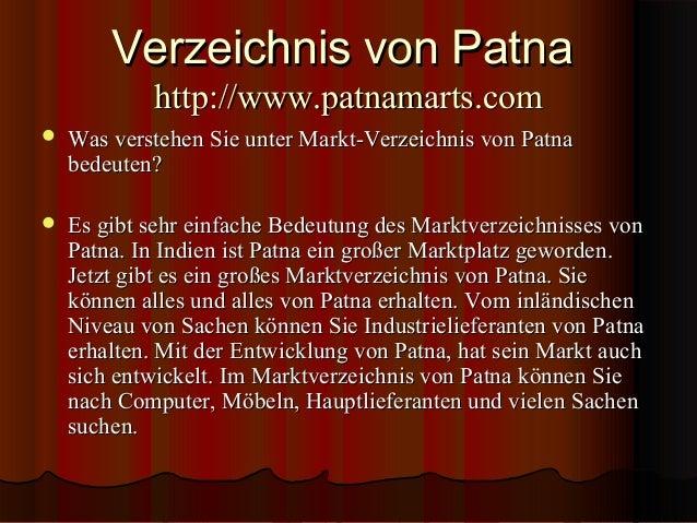 Verzeichnis von Patna  Slide 3