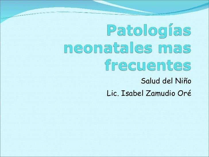 Salud del Niño Lic. Isabel Zamudio Oré