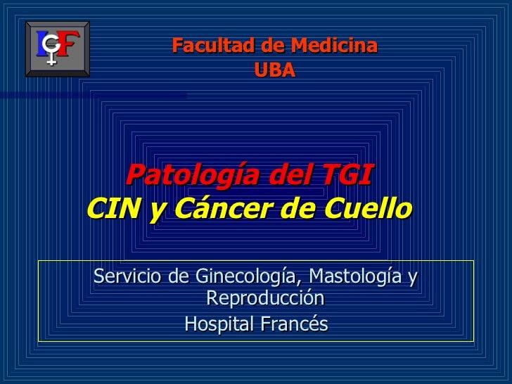 Patología del TGI CIN y Cáncer de Cuello <ul><li>Servicio de Ginecología, Mastología y Reproducción </li></ul><ul><li>Hosp...