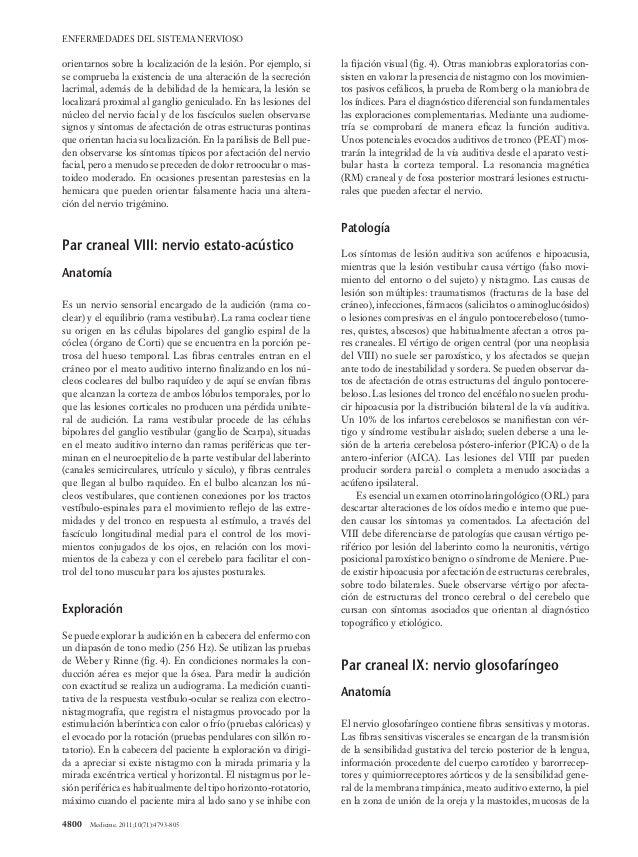 Patología de los pares craneales