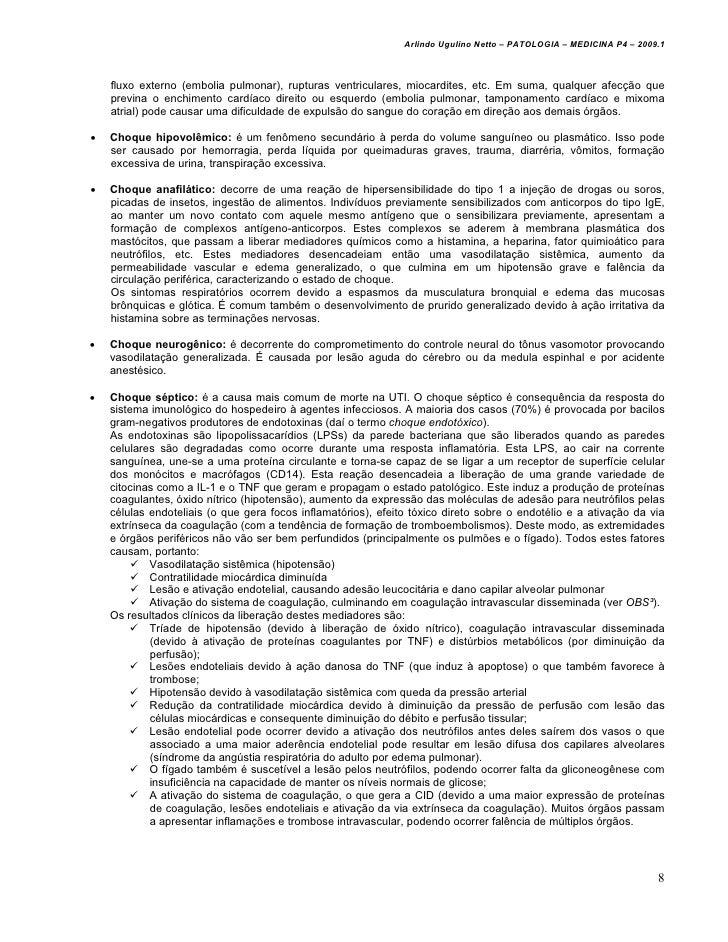 Arlindo Ugulino Netto – PATOLOGIA – MEDICINA P4 – 2009.1    fluxo externo (embolia pulmonar), rupturas ventriculares, mioc...
