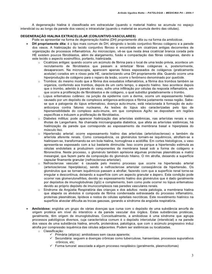 Patologia 08   degenerações - med resumos - arlindo netto Slide 3