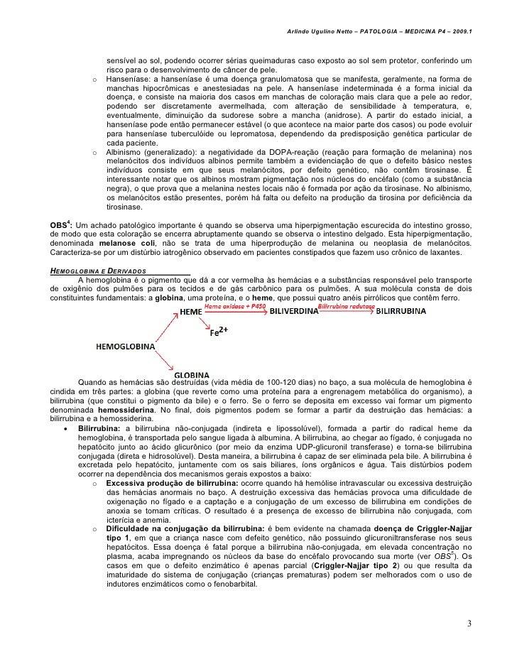 Arlindo Ugulino Netto – PATOLOGIA – MEDICINA P4 – 2009.1                sensível ao sol, podendo ocorrer sérias queimadura...