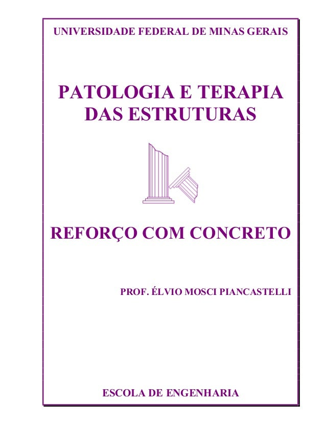 UNIVERSIDADE FEDERAL DE MINAS GERAIS PATOLOGIA E TERAPIA DAS ESTRUTURAS REFORÇO COM CONCRETO PROF. ÉLVIO MOSCI PIANCASTELL...