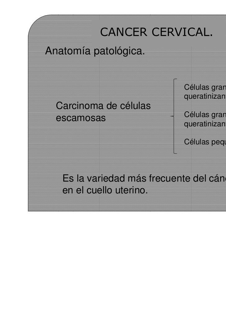 Patologia premaligna y maligna de cuello uterino