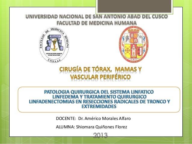 DOCENTE: Dr. Américo Morales AlfaroALUMNA: Shiomara Quiñones Florez