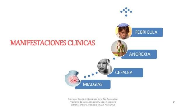 MANIFESTACIONES CLINICAS F. Álvarez Garcia, V. Rodriguez de la Rúa Fernández. Programa de formación continuada en pediatri...