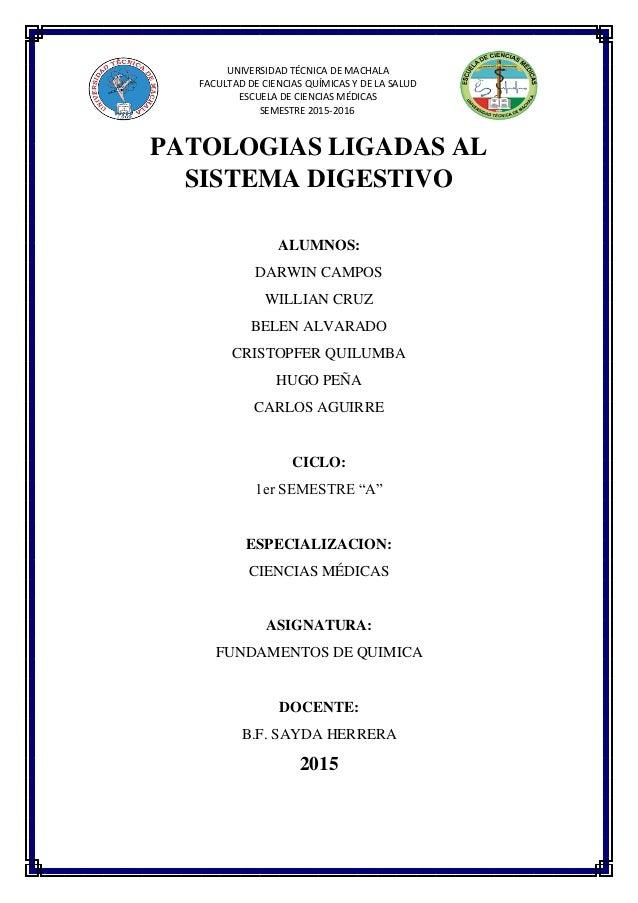 Patologias ligadas al sistema digestivo