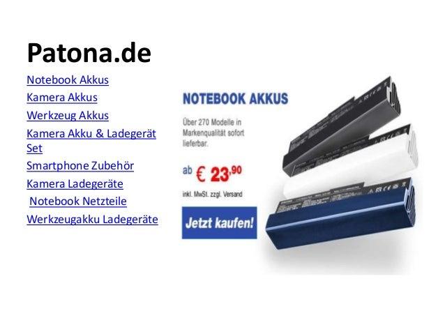Patona.de Notebook Akkus Kamera Akkus Werkzeug Akkus Kamera Akku & Ladegerät Set Smartphone Zubehör Kamera Ladegeräte Note...