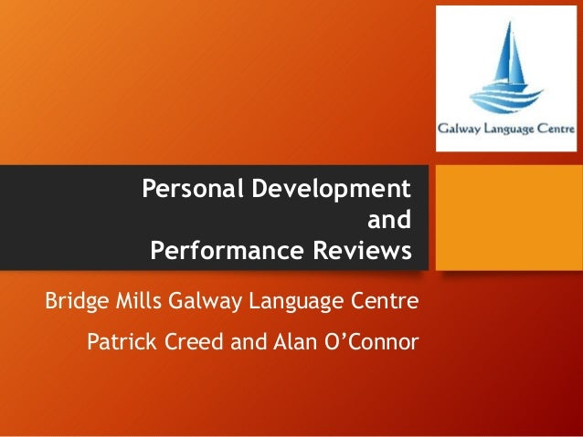 Bridge Mills Galway Language Centre Patrick Creed and Alan O'Connor Personal Development and Performance Reviews