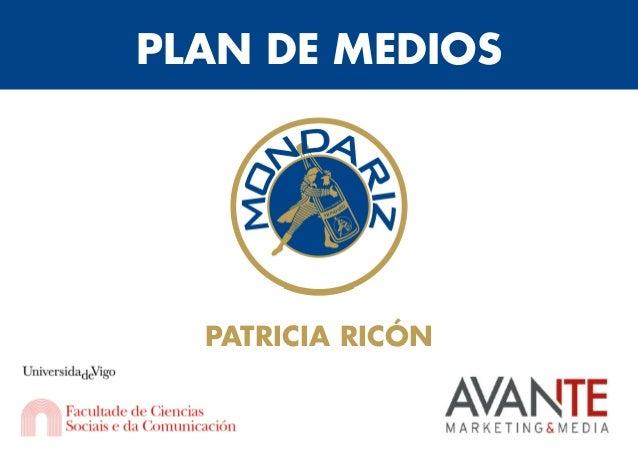 PLAN DE MEDIOS PATRICIA RICÓN