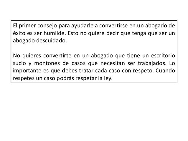 Patricio Aguilera Godoy - Consejos para ayudarte a ser un abogado exitoso Slide 3