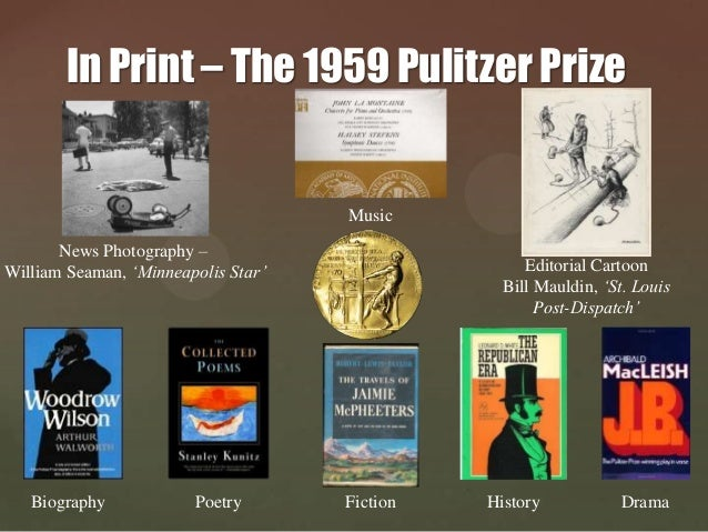 30 In Print The 1959 Pulitzer Prize