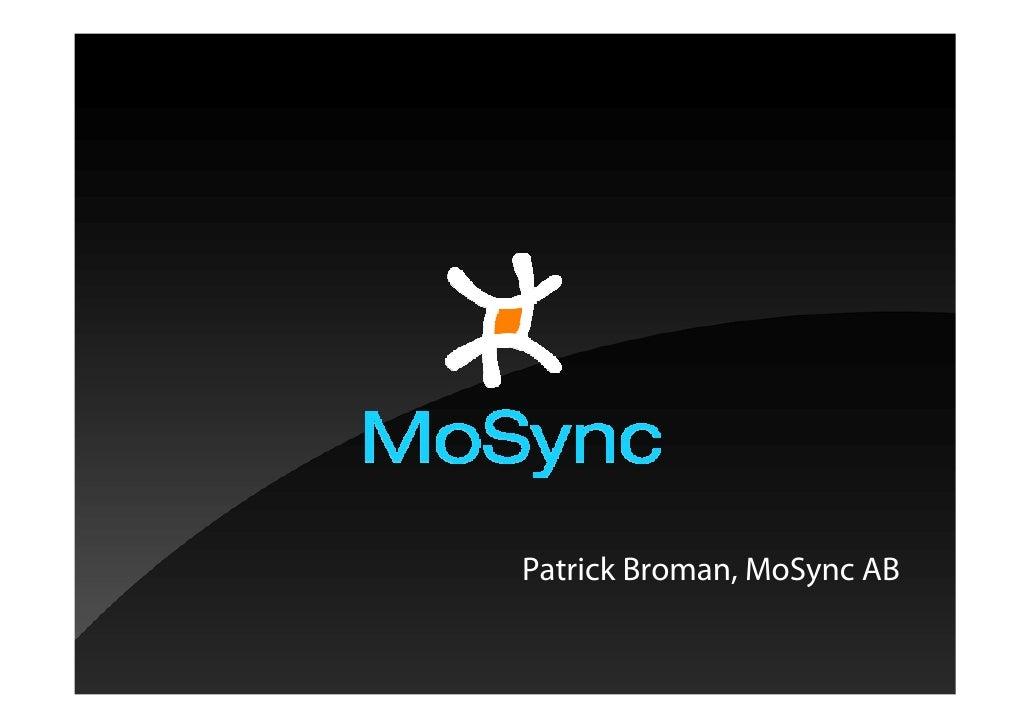 Patrick Broman, MoSync AB