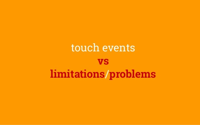 Getting touchy - an introduction to touch and pointer events
