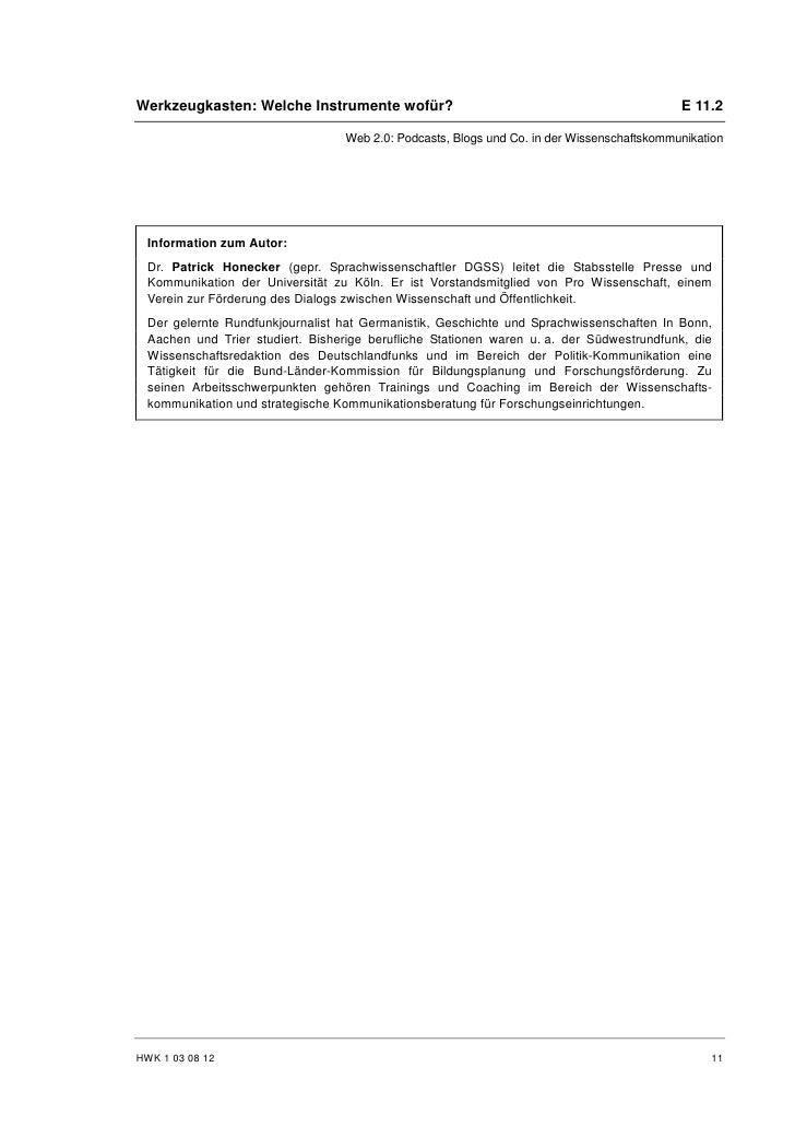 Patrick Honecker: Mobile Wissensportale