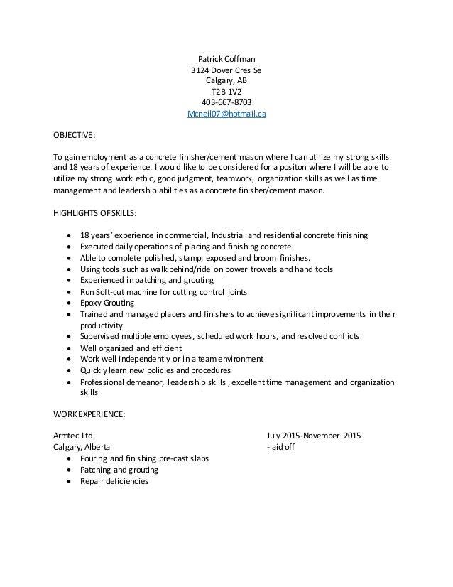 patricks resume