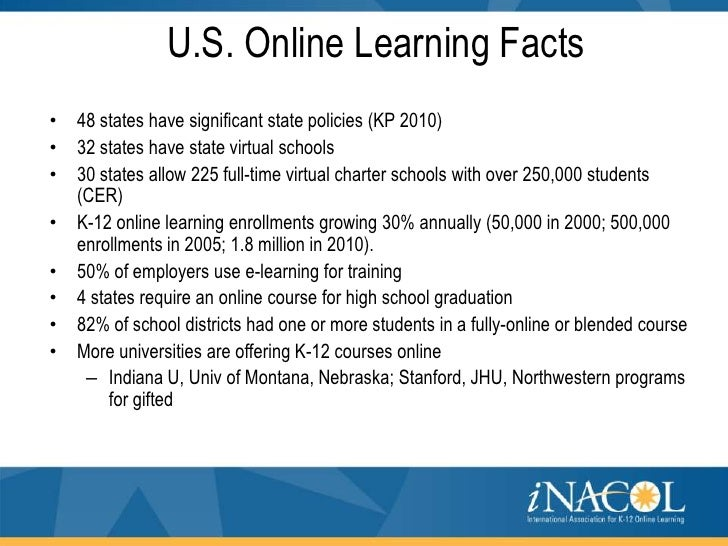Patrick teeter inacol north america k 12 online for Interesting facts north america