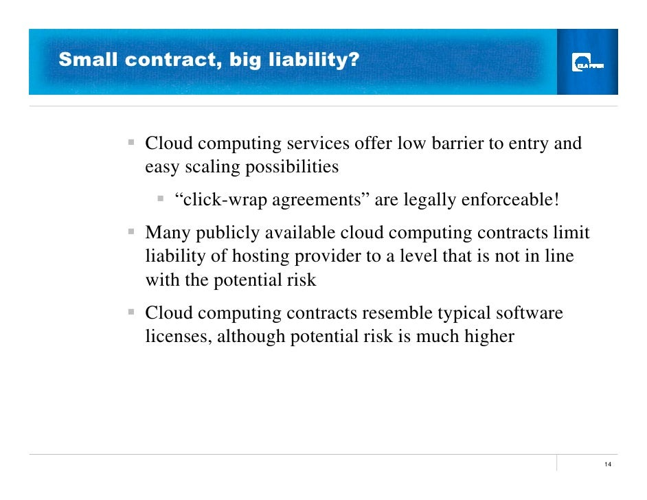 Cloud computing legal issues for Salon cloud computing