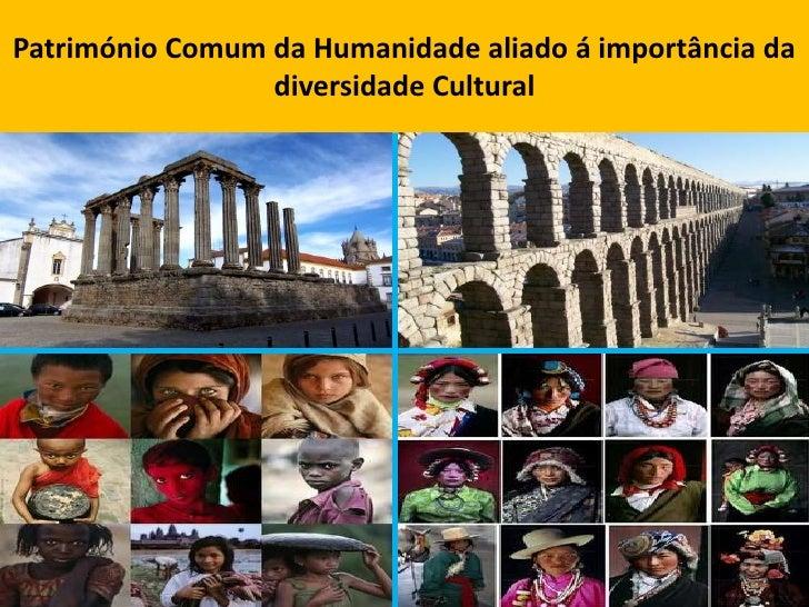 Património Comum da Humanidade aliado á importância da diversidade Cultural<br />