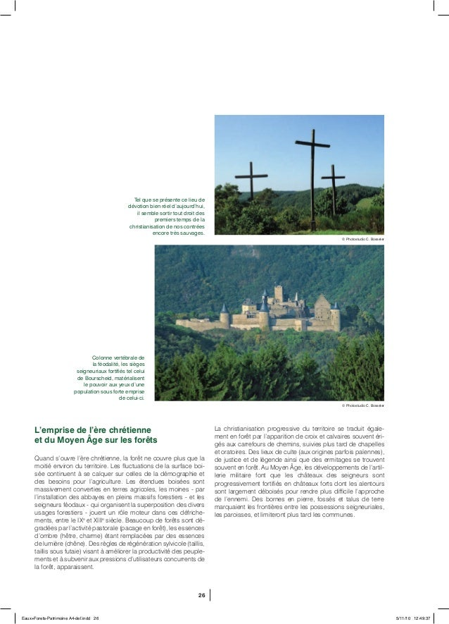26 L'emprise de l'ère chrétienne et du Moyen Âge sur les forêts Quand s'ouvre l'ère chrétienne, la forêt ne couvre plus qu...