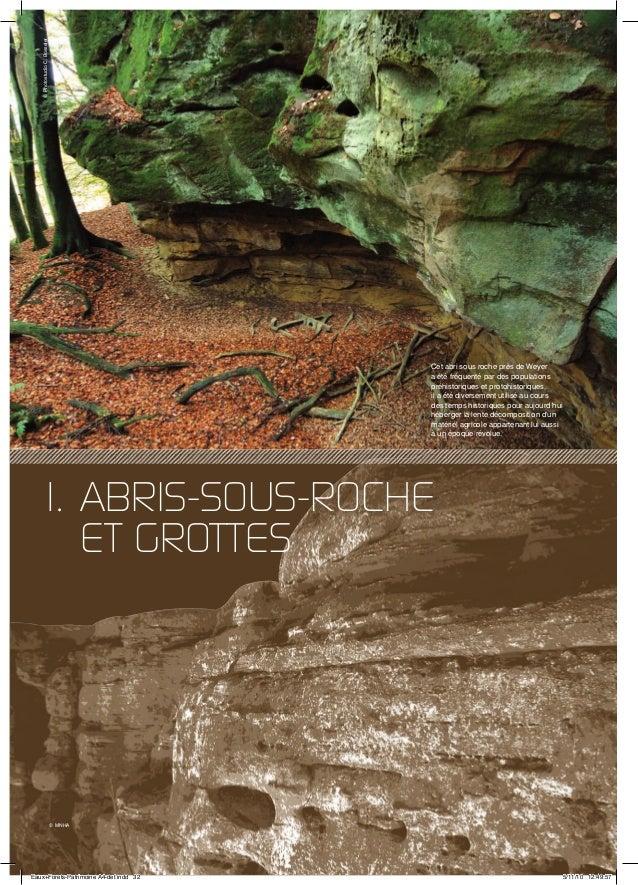 32 1. ABRIS-SOUS-ROCHE ET GROTTES Cet abri sous roche près de Weyer a été fréquenté par des populations préhistoriques et ...