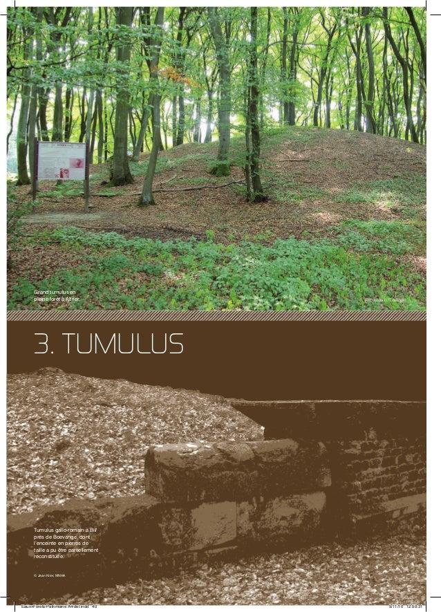 40 3. TUMULUS Grand tumulus en pleine forêt à Altrier. © Photostudio C. Bosseler © Jean Krier, MNHA Tumulus gallo-romain à...