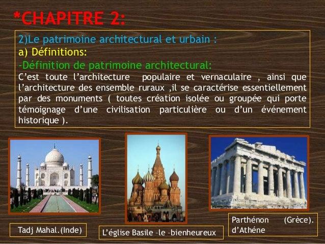 Patrimoine Architectural Et Urbain