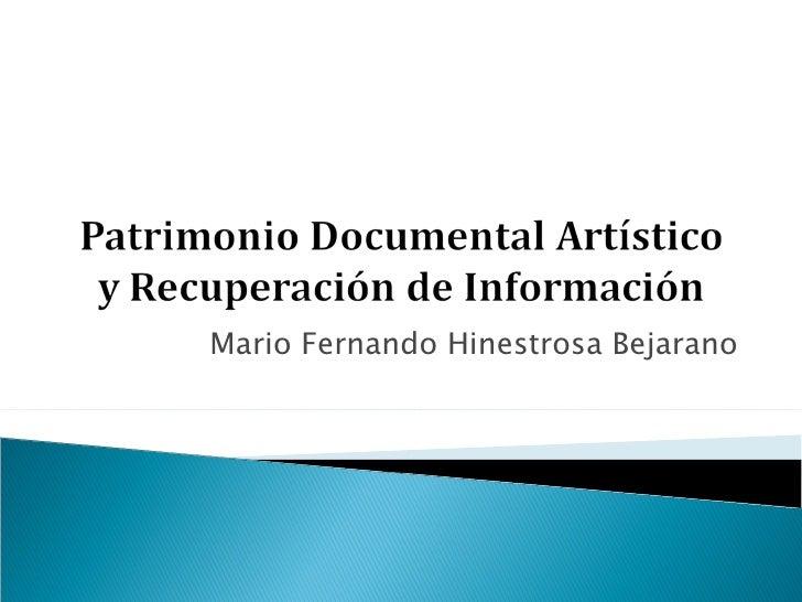 Mario Fernando Hinestrosa Bejarano