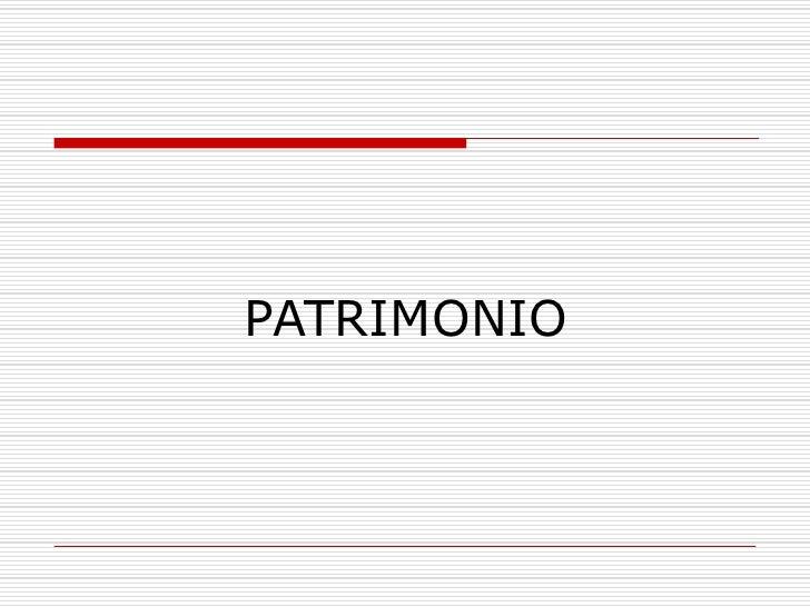 PATRIMONIO<br />