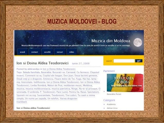 MUZICA MOLDOVEI - BLOG