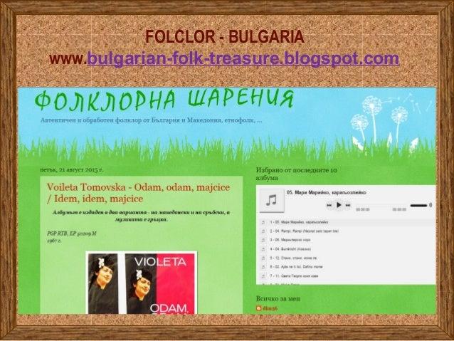 FOLCLOR - BULGARIA www.bulgarian-folk-treasure.blogspot.com