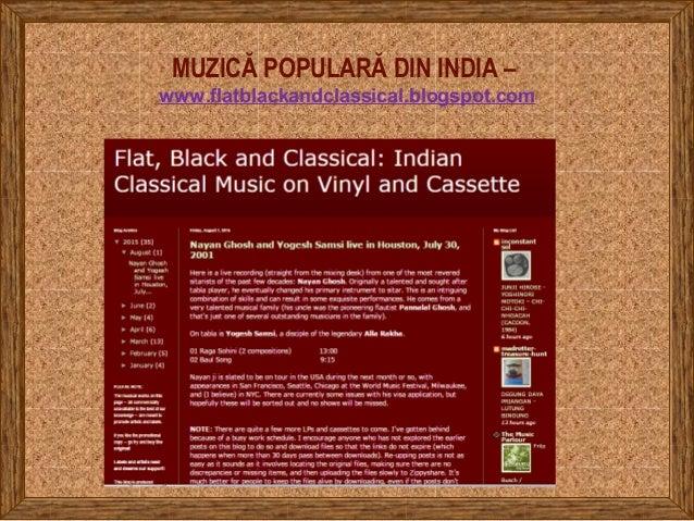 MUZICĂ POPULARĂ DIN INDIA – www.flatblackandclassical.blogspot.com