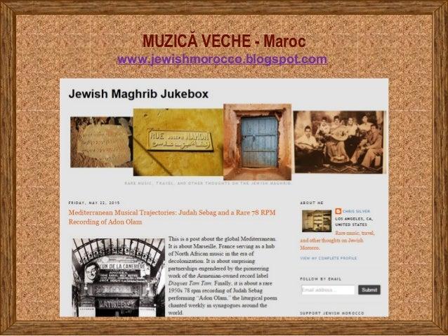 MUZICĂ VECHE - Maroc www.jewishmorocco.blogspot.com