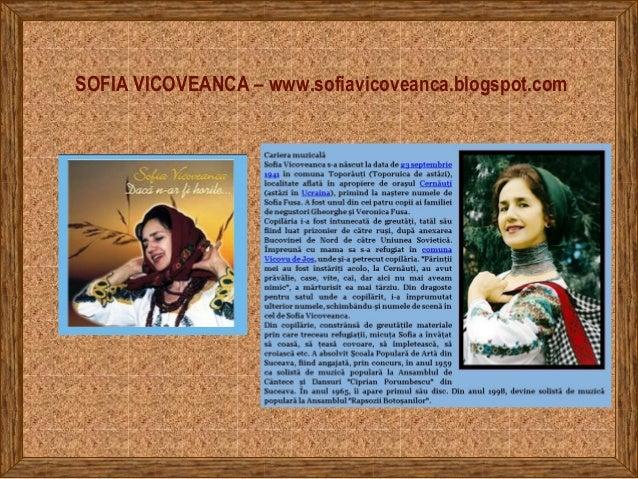 SOFIA VICOVEANCA – www.sofiavicoveanca.blogspot.com