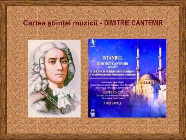 Cartea ştiinţei muzicii - DIMITRIE CANTEMIR