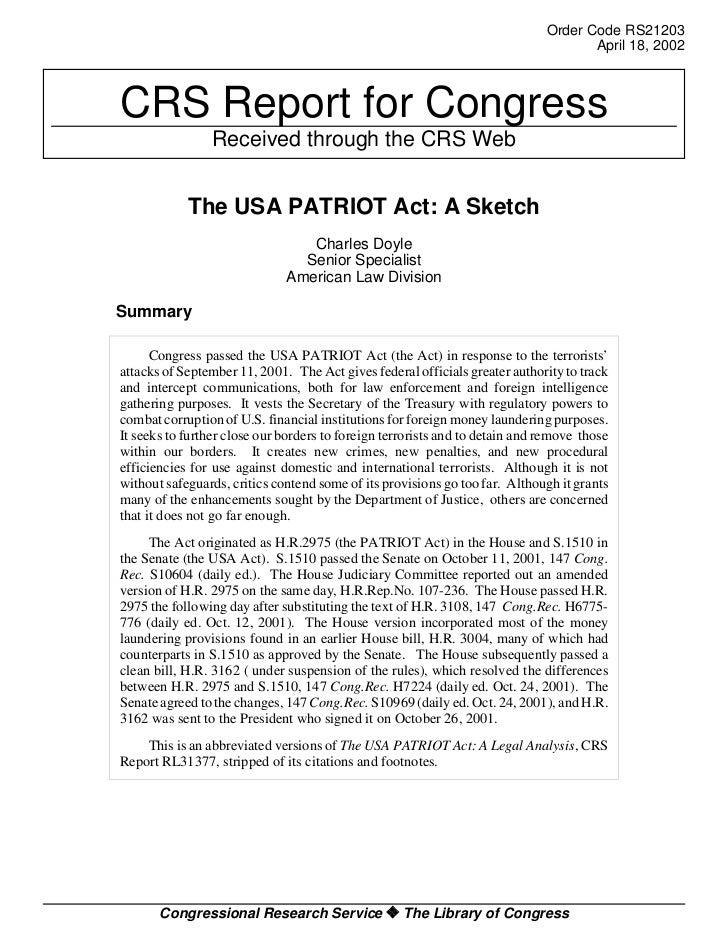 Order Code RS21203                                                                                     April 18, 2002CRS R...
