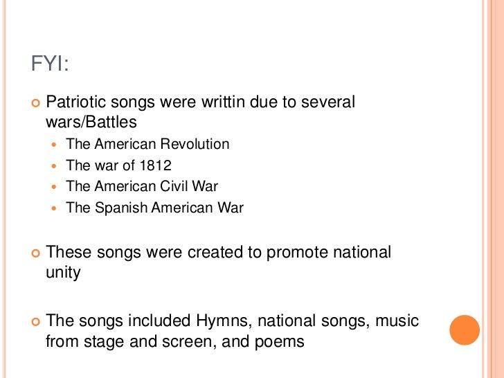 Patriotic Music And Rock Music