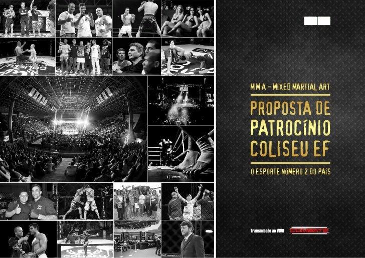 Coliseu Extreme Fight V- 14 de Novembro ao vivo no Canal Combate - Plano de Patrocínio-