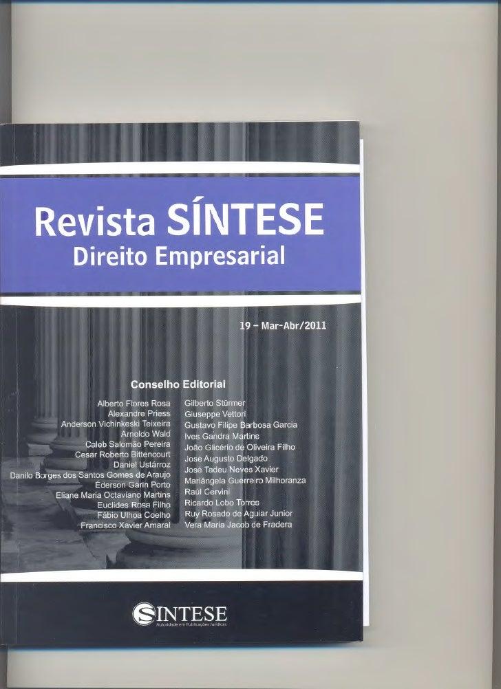 ,                       Revista SINTESE                         Direito Empresarial                          AND   Ill- N°...