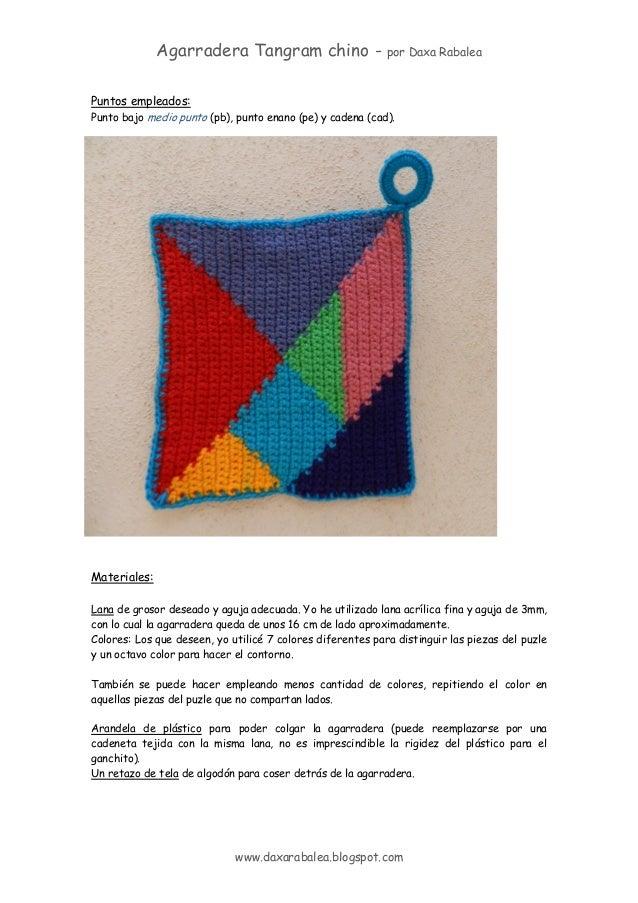 Patron agarradera tangram crochet