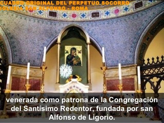 CUADRO ORIGINAL DEL PERPETUO SOCORROIGLESIA SAN ALFONSO - ROMA venerada como patrona de la Congregación  del Santísimo Red...