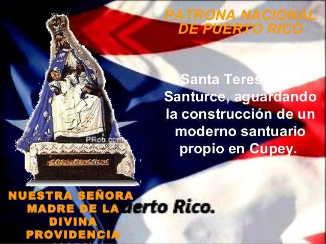 PATRONA NACIONAL                  DE PUERTO RICO                    Santa Teresita de                 Santurce, aguardando...