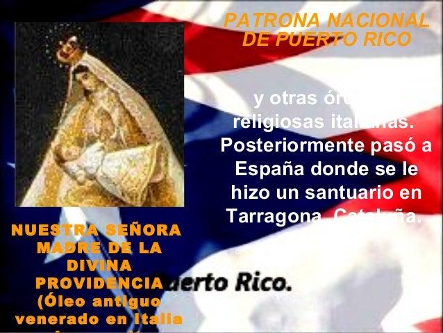 PATRONA NACIONAL                      DE PUERTO RICO                         y otras órdenes                      religios...