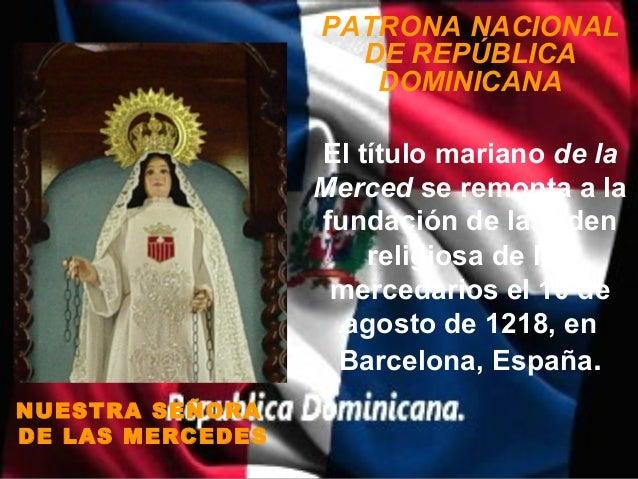PATRONA NACIONAL                    DE REPÚBLICA                     DOMINICANA                  El título mariano de la  ...