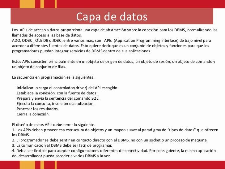 Patrones de arquitectura Software(Capa de Datos) Slide 2