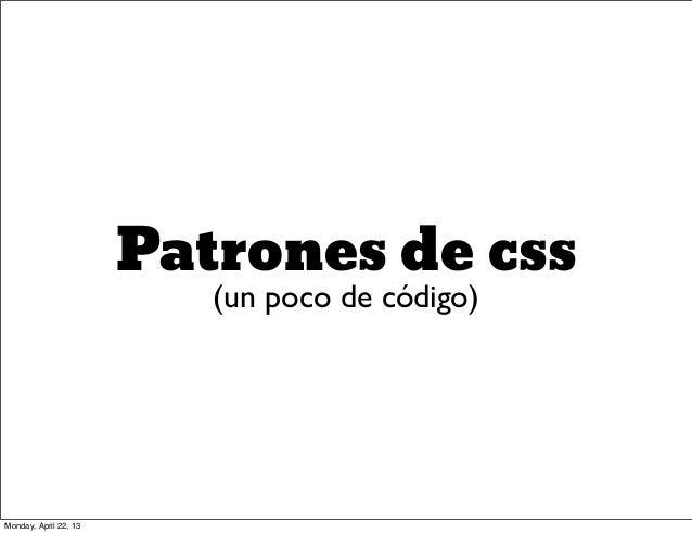 Patrones de diseño CSS