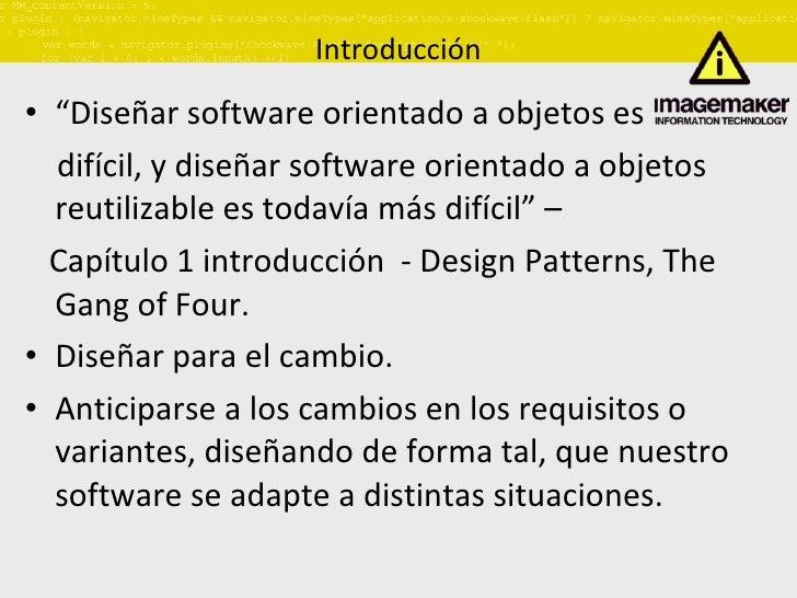 Patrones de diseño I Slide 3