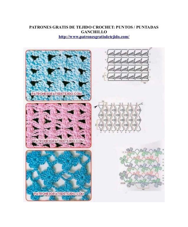 Patrones gratis de tejido: 12 Puntos / puntadas crochet