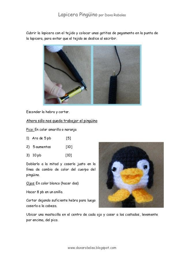 Patron lapicera con_funda_crochet_pinguino